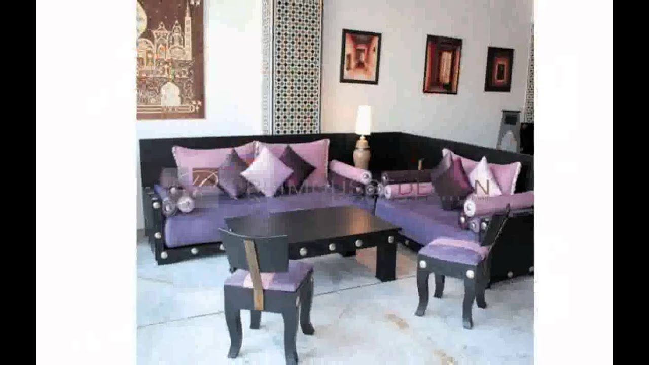 Decoration salon marocain moderne youtube for Decoration des salons