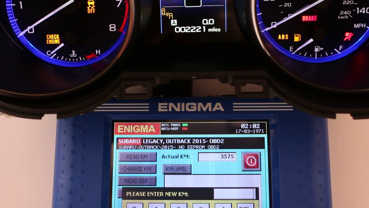 Subaru Legacy / Outback NEC UPD70F3529 speedometer OBD2