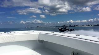 Freeman 37 vs Yellowfin 36. Heading to the Clearwater Races