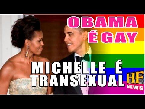 Barack Obama é gay e sua esposa Michelle é transexual. Notícias sobre casamento gay nos EUA.