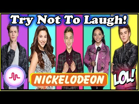 Thumbnail: Try Not To Laugh Challenge Nickelodeon Stars Edition | Funny Nickelodeon Stars Musical.ly 2017