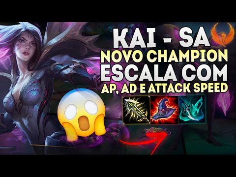 "NOVO CHAMPION ""KAI-SA"" - ESCALA COM AD,AP E ATTACK SPEED! OP [PT-BR]"