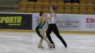 12 Natalia KALISZEK / Maksym SPODYRIEV - POL - Senior Ice Dance RD - Mentor Torun Cup 2019
