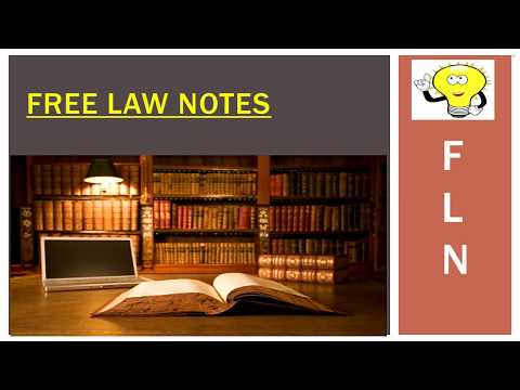 Free Law Notes: Overview of the Channel