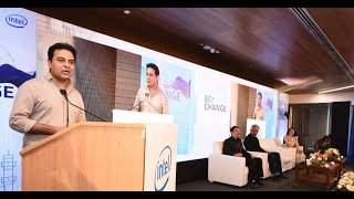 Minister KTR Live || Inauguration event of Intel Design & Engineering Centre || Hyderabad