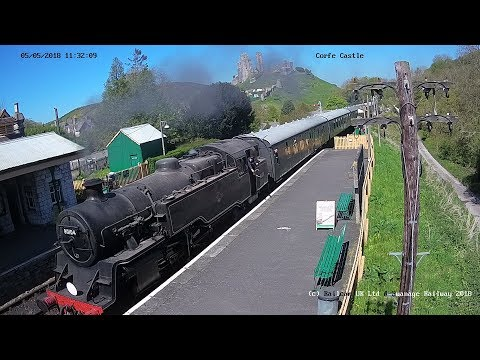 Swanage Railway Autumn Steam Gala - Corfe Castle Cam
