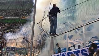 BORUSSIA MÖNCHENGLADBACH - FC SCHALKE 04 16.03. EURO LEAGUE PYRO / BENGALOS DER SCHALKE ULTRAS HD