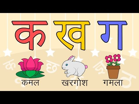 Learn 36 Hindi Varnamala letters with pictures