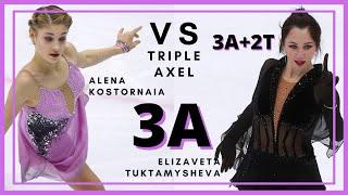 Alena KOSTORNAIA vs Elizaveta TUKTAMYSHEVA TRIPLE AXEL 3A