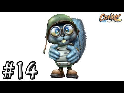 Conker: Live and Reloaded Walkthrough #14 - Chapter: It's War - Saving Private Rodent
