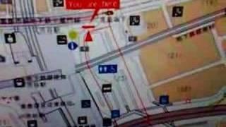Plasma screen guide map Tokyo tokio plattegrond