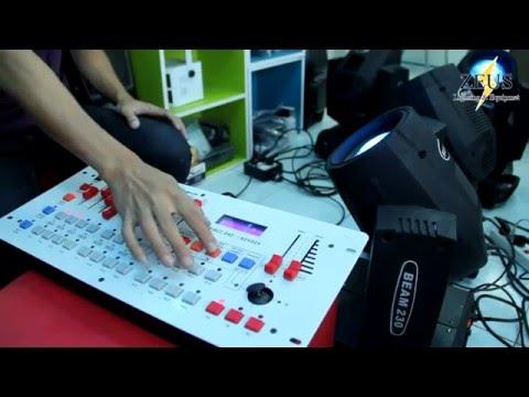 สอน Disco 240 DMX512 Controller Board คุม และ เซฟ บีมมูฟวิ่งเฮด 230 Part 2