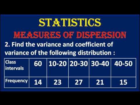 2. STATISTICS  Find The Variance And Coefficient Of Variance Of The Given Distribution