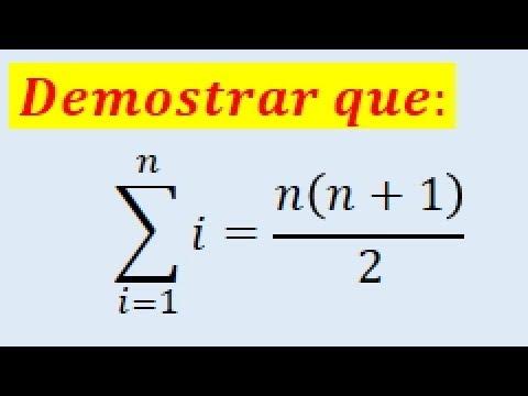 Principio de inducción matemática sumatoria