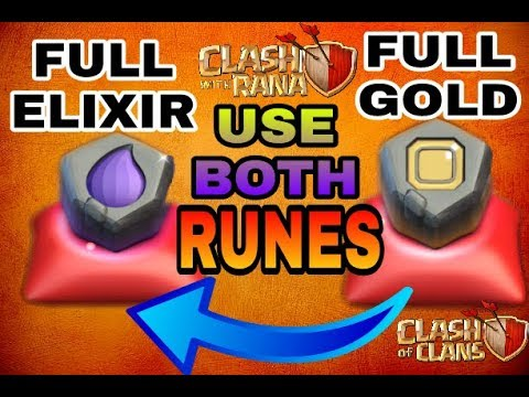 Let's use Both runes gold and ELIXIR | Clash of Clans