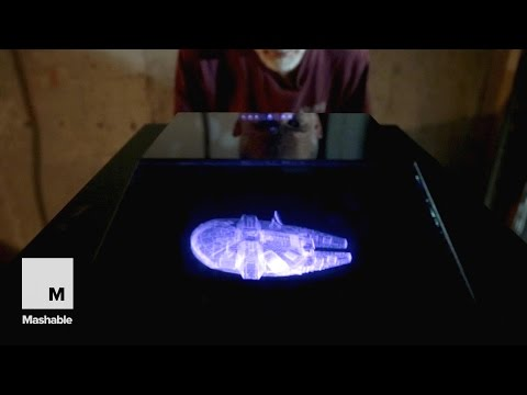 Holographic 3D Projection Device 'Voxiebox' Showcases Futuristic Display Tech | Mashable