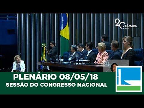 Sessão Solene do Congresso Nacional - 08/05/2018