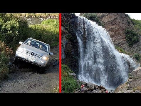 Off-Road On Mercedes ML350 W163 At Trchkan Waterfalls In Armenia 2019
