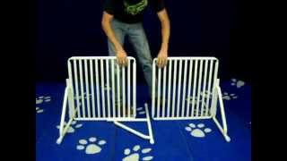 Freestanding Pet Gate : Assembly Video By Rover Company