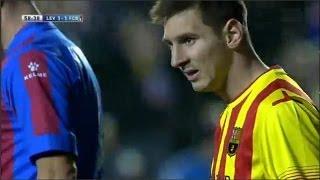 Levante vs Fc Barcelona 1-1 All Goals & Highlights | 19/01/2014