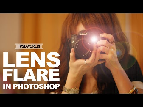 How To Add Lens Flare In Photoshop CC, CS6   Lens Flare Photoshop