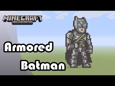 Minecraft: Pixel Art Tutorial and Showcase: Armored Batman (Batman v Superman: Dawn of Justice)