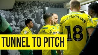 Tunnel To Pitch: Norwich City v Middlesbrough