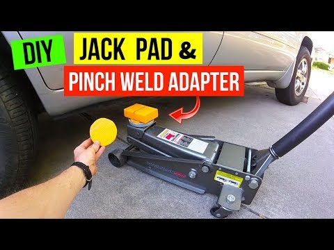 Easy DIY Car Jack Pad & Pinch Weld Adapter -Jonny DIY