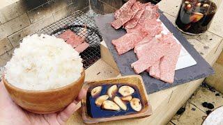 香るニンニク!特製焼きニンニク醤油で爆盛りマンガ飯がドエレーうめぇ!!
