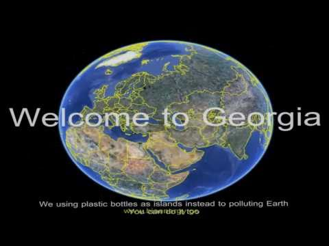 Ecological Artificial islands from used plastic bottles