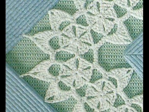 Gráficos para tejer entredós a crochet - YouTube