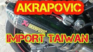 KNALPOT RACING AKRAPOVIC CARBON IMPORT TAIWAN