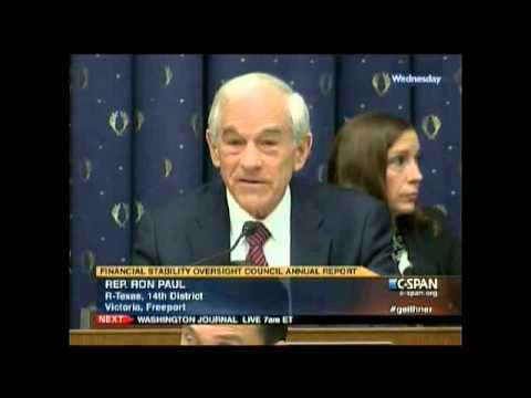 Ron Paul Questions Timothy Geithner 7/25/12