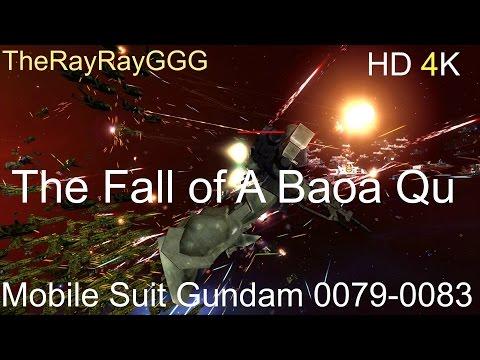 HW2R Gundam Mod 0079-0083 The Fall of A Baoa Qu Test 2 HD 4K