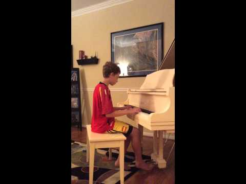 Evan playing The Last Leaf Falls by Lucas King