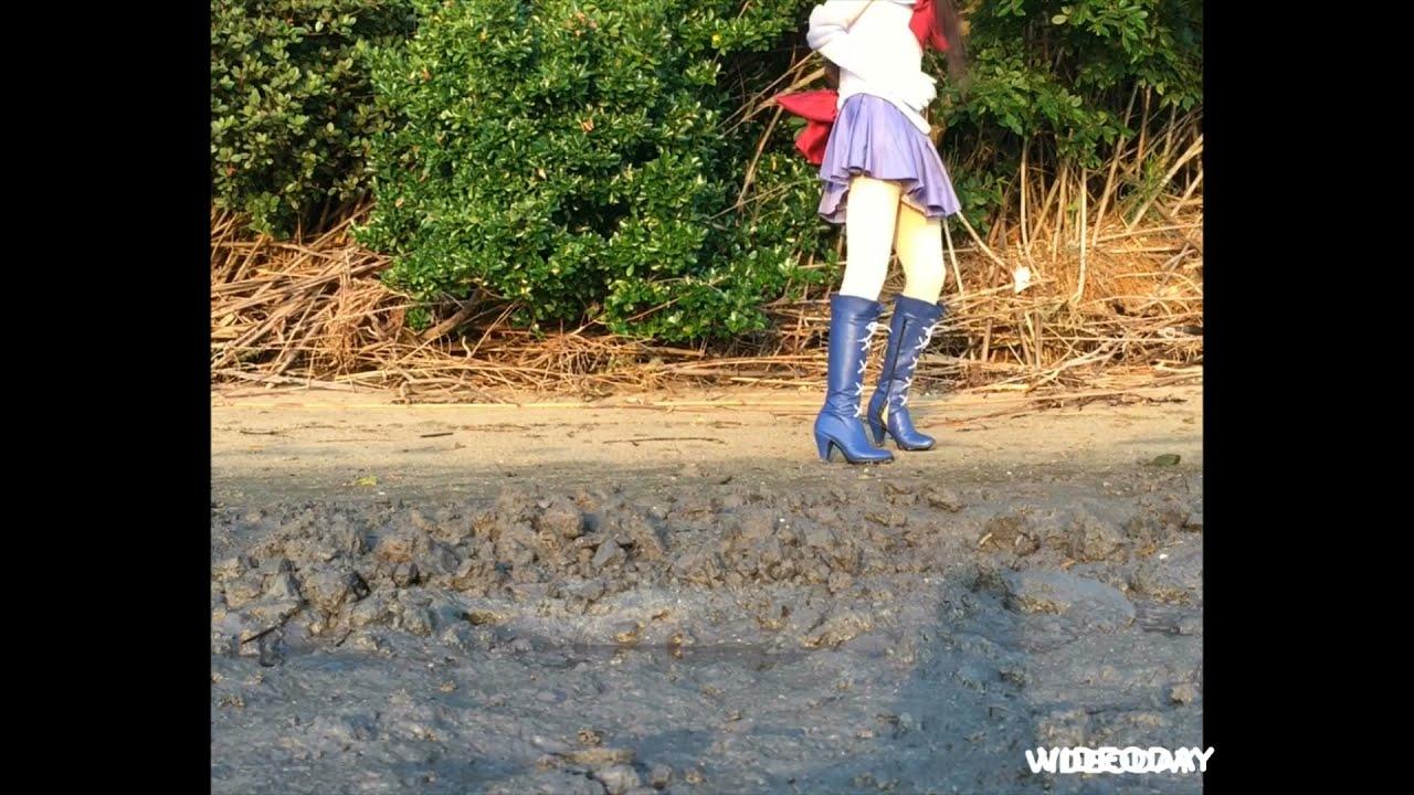 Download コスプレ+ブーツで泥遊び6-1 cosplay boots mud 11