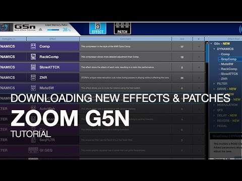 Zoom G5n: Downloading New Effects and Patches
