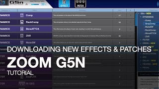 Gambar cover Zoom G5n: Downloading New Effects and Patches