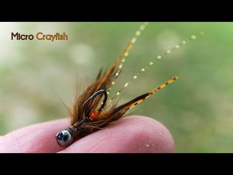 Micro Crayfish - Jigged Nymph And Streamer - McFly Angler Crawfish Fly Tying Tutorial