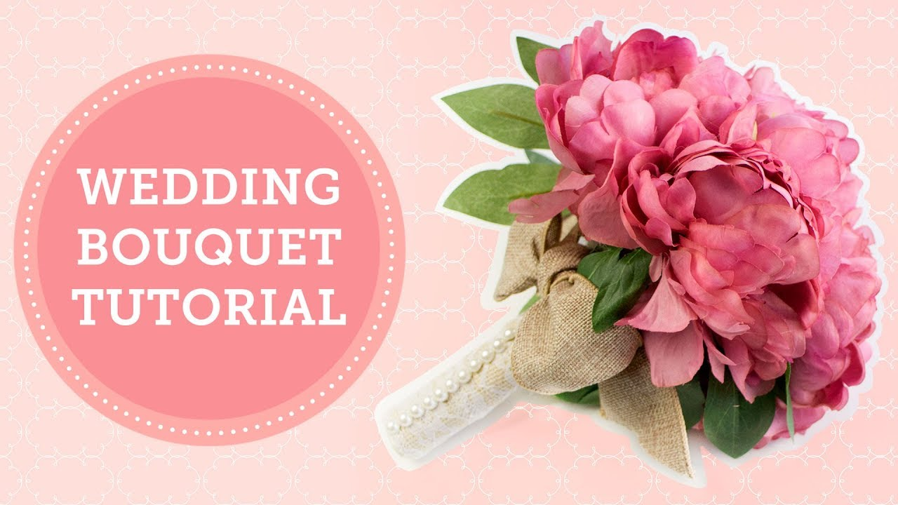 Silk Flowers Wedding Bouquet Handle DIY | BalsaCircle.com - YouTube