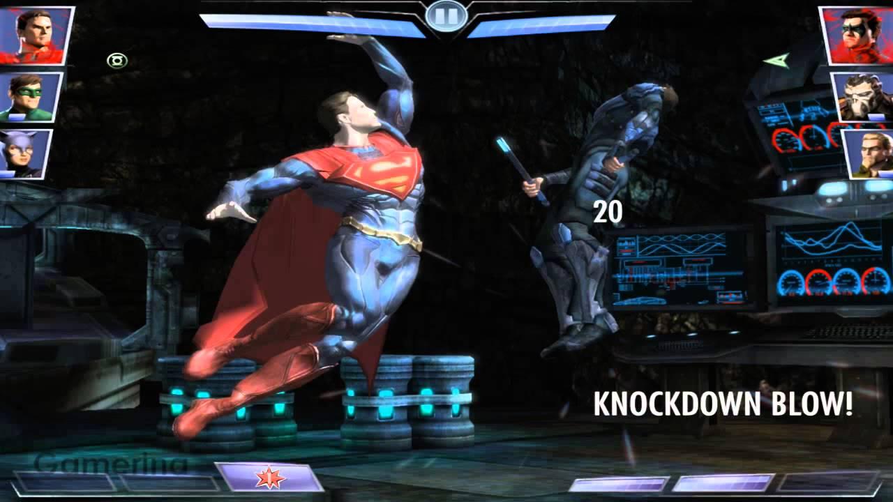 Injustice Gods Among Us Superman VS Bane IPad