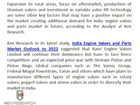 Auto Parts Industry In India, Auto Components Market in India, Import Engine Valve India