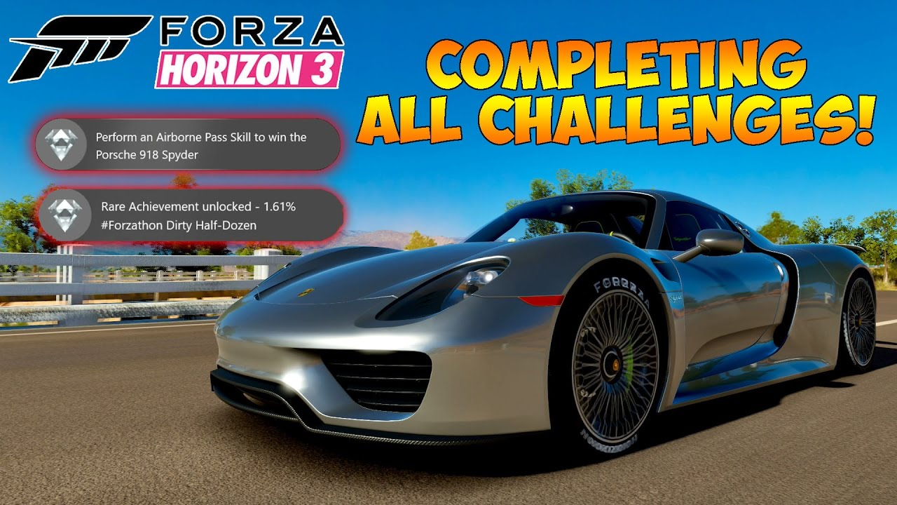 forza horizon 3 forzathon winning the porsche 918 spyder all challenges youtube. Black Bedroom Furniture Sets. Home Design Ideas