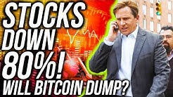 HOW LOW CAN STOCKS GO?! 80% DROP!! Bitcoin Recovers, WILL BITCOIN CRASH?