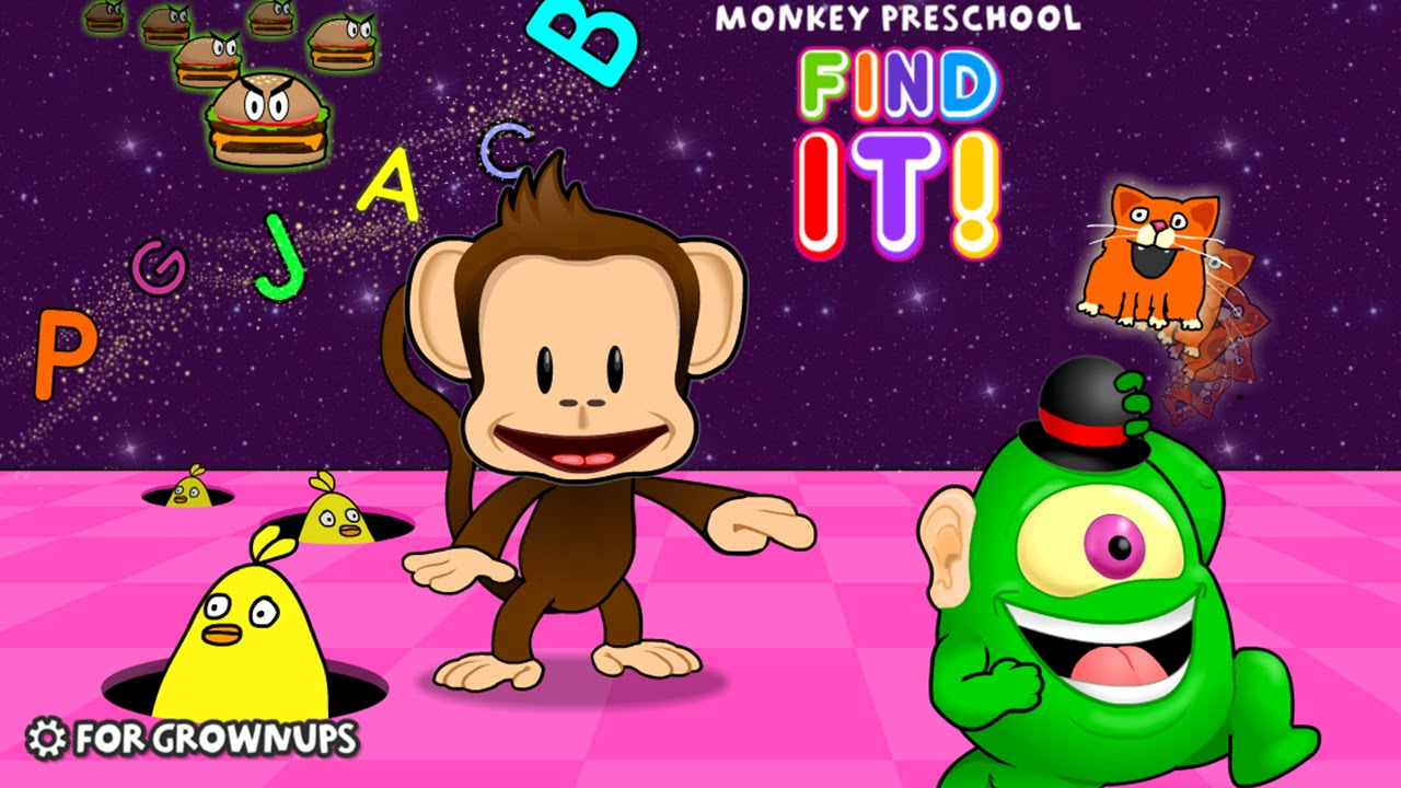 Monkey Preschool Find It Thup Games Best App For Kids Youtube