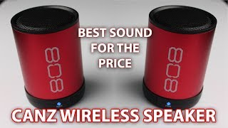 808 CANZ Wireless Bluetooth Speaker Unboxing, First Look and Test