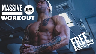 Arms & Shoulders Mass With Free Weights Only!!