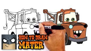 How to Draw Mater | Cars 3