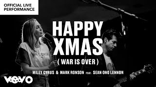 Смотреть клип Miley Cyrus, Mark Ronson Ft. Sean Ono Lennon - Happy Xmas