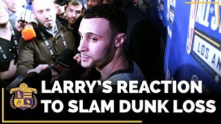2018 NBA Slam Dunk Contest: Larry Nance Jr. REACTS To Getting Beat By Donovan Mitchell